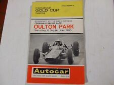 INTERNATIONAL GOLD CUP OULTON PARK 1965 Clark,Surtees,Hill,Brabham,Stewart,Hulme