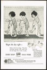 1920s Original Vintage Ivory Soap Jessie Wilcox Smith Bathroom Art Print Ad
