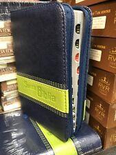 Biblia De Letra Grande Cierre Azul Con Indice 10 Puntos pequeÑa  concordancia