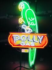 """New Polly Gas Gasoline Motor Oil Light Neon Sign 24"""" with HD Vivid Printing"""