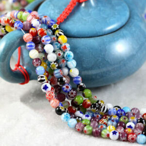 10pcs Mixed Italian Style Murano Glass Spacer Loose Beads Charm Findings 6mm