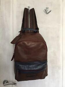PIKOLINOS 100% Leather Brown Backpack Rucksack Bag