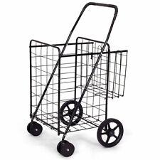Jumbo Basket for Grocery Laundry Travel w- Swivel Wheels