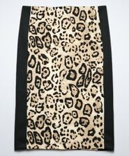 Vince Camuto Animal Print Skirt A-Line Pencil Size Small Cheetah Stretchy