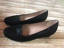 Antonio Barbato Womens Black Heart Wedge Shoes Size 37 US 7