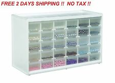 Storage Organizer Cabinet 30 Plastic Drawer Boxes Parts Container Garage Bin Toy