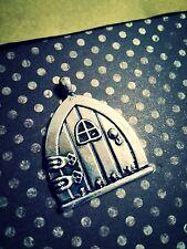 Fairy Door Pendant Antiqued Silver Fairy Tale Charm Pendant Large Focal 35mm