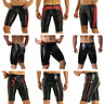 Sexy Men Leather Look Shorts Pants Sports Workout Gym Tights Underpants Trousers
