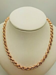 """9ct Rose Gold Rope Chain - 5.0mm - 26"""" **** CHEAPEST ON EBAY ****"""
