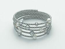 BRACCIALE fascia Argento donna perle MILUNA Vertigo PBR1652AG silver vortice