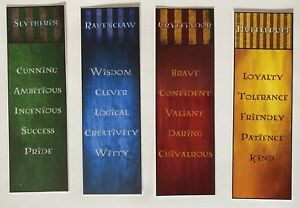 Harry Potter Bookmarks - Howarts Houses (4)