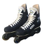 Bauer Impact 30 Inline Roller Hockey Skates Mens US M 10 Czech Made