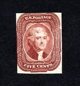 USA 1856 stamp Scott#12 MNG CV=11000$