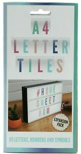 NEW - A4 Letter Tiles Expansion Pack - A4 LIGHTBOXES message board