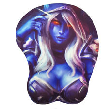 World of Warcraft WOW II Sylvanas 3D Bust Gaming Mouse Pad with Gel Wrist Rest