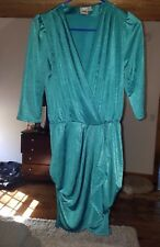 ASOS Wrap Style Mini Dress Size 6 GENTLY USED Teal/Green
