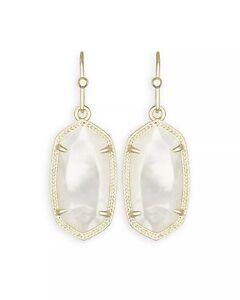 NEW Authentic Kendra Scott Dani Gold Drop Earrings Black Pearl Turquoise White +