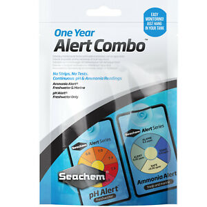 Seachem One Year Alert Combo Continuous pH and Ammonia Readings for Aquariums