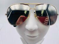 Turbo Sunglasses Aviator Mirror Lens Turbo crossbar 1980/'s 12 Vintage Case