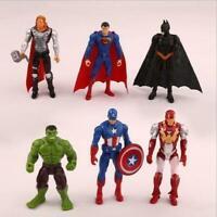 Marvel Avengers Batman Superman Hulk Superhero Action Figure Cake Topper All 6