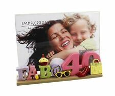 "Juliana Impressions 6""x 4"" Photo Frame (Fab @ 40) **NEW**"