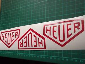Heuer Stickers Tag Watch x3  7 YEAR VEHICLE VINYL