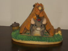 """Fitz & Floyd Charming Tails """"Camping Out"""" Figurine  # 83/703"""
