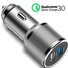 QUICK CHARGE 3.0 QUALITY CAR CHARGER DOUBLE USB TWIN 2 PORT FOR APPLE SAMSUNG