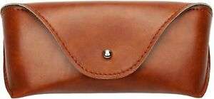 Portable Leather Eyeglasses Sunglasses Case Soft Pouch Slim Carry Case Brown New