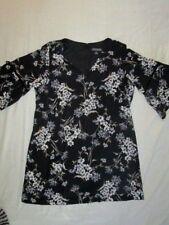 NEW! $110 Jessica Howard 20W plus size womens dress black white flow 3/4 sleeve
