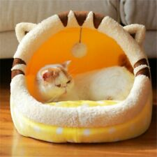 Foldable Cat House Warm Soft Cute Winter Pet Dog Cat Bed Kennel Nest For Small M