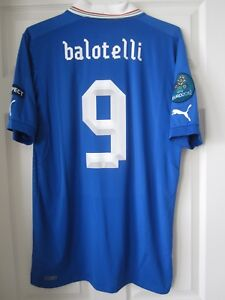 Puma Euro 2012 Italy Mario Balotelli Player Issue Match UnWorn Soccer Jersey