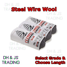 More details for clipper fine medium coarse steel wire wool grade various lengths 0000 00 0 1 2 3