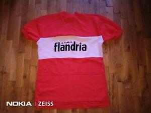 Flandria Vintage Cycling Jersey Shirt Camiseta Aimé Claeys wool acrylic size 5-L