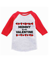 Mommy Is My Valentine Toddler Raglan Shirt Valentine's Day Jersey Shirt for Boys