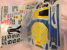 KYOSHO OPTIMA 4WD, BRAND NEW CLEAR BODY SHELL SET WITH DECALS (UNPAINTED) OTB245