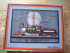 FRED BONN - Original Acrylic Railroad Painting On Board - COLLECTOR ITEM