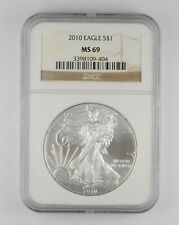 MS69 2010 American Silver Eagle - Graded NGC *288