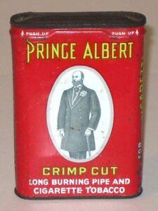 Vintage PRINCE ALBERT Crimp Cut TOBACCO Pocket Advertising Tin! R.J. Reynolds!