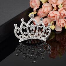 Women Lady Girl Wedding Rhinestone Bridal Hair Comb Crown Tiara Prom Pageant New