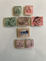 Trinidad & Tobago Early Estate Collection Lot Set Of 8 Used Stamps Specimen