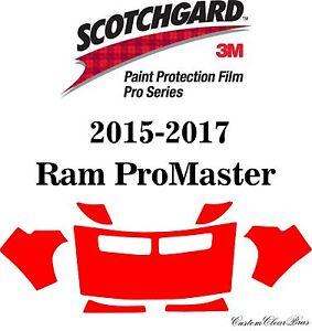 3M Scotchgard Paint Protection Film Pro Series Kit 2015 2016 2017 Ram ProMaster
