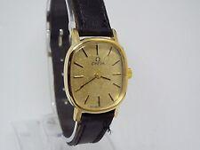 17) donna vintage placcato oro Omega De Ville orologio da polso meccanico