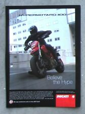 DUCATI 1100 HYPERMOTARD 2007 Motorcycle Magazine Page Sales Ad Advertisement