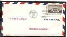 US Scott # C34 USA Air Mail FDC . No Cachet