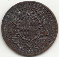Jeton aux armes de Camille Perrichon, échevin de Lyon 1737
