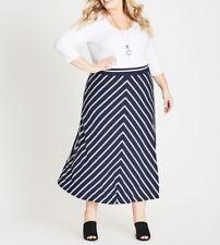 e888bbeb088f4 Autograph Maxi Blue   White Stripe Skirt- Elastic Waist Viscose elastane  Size 20