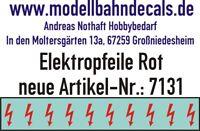 10 Spur 0 rote Elektropfeile 2,8 x 1,0 mm - rot auf klar NEU 045-7131