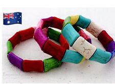 New Bohemian Multi-Coloured Slim Bangle / Bracelet - Fashion Charm - Shamballa