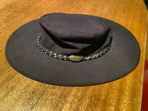 Jacaru Swagman Hat Leather - Medium Black